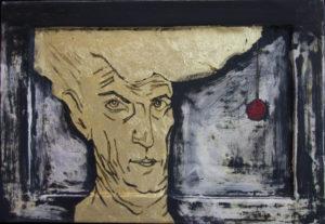 Selfportrait 2016 eggtempera on wood