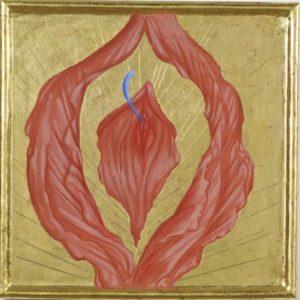 Creations II 2013, 27x27 cm egg tempera gold leaf on wood