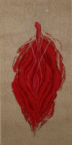 Bloodred, 2011, wool on canvas, 100 x 200 cm
